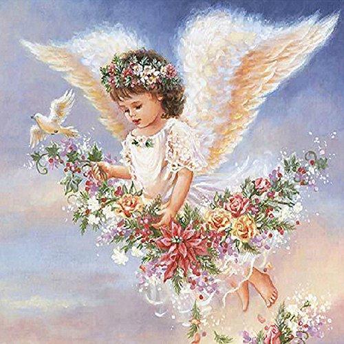 YaYiYo Full Diamond Embroidery Angel Girl Wings Fly Diamond Painting Cross Stitch Drill Household Adornment - Wing Diamond Large Angel