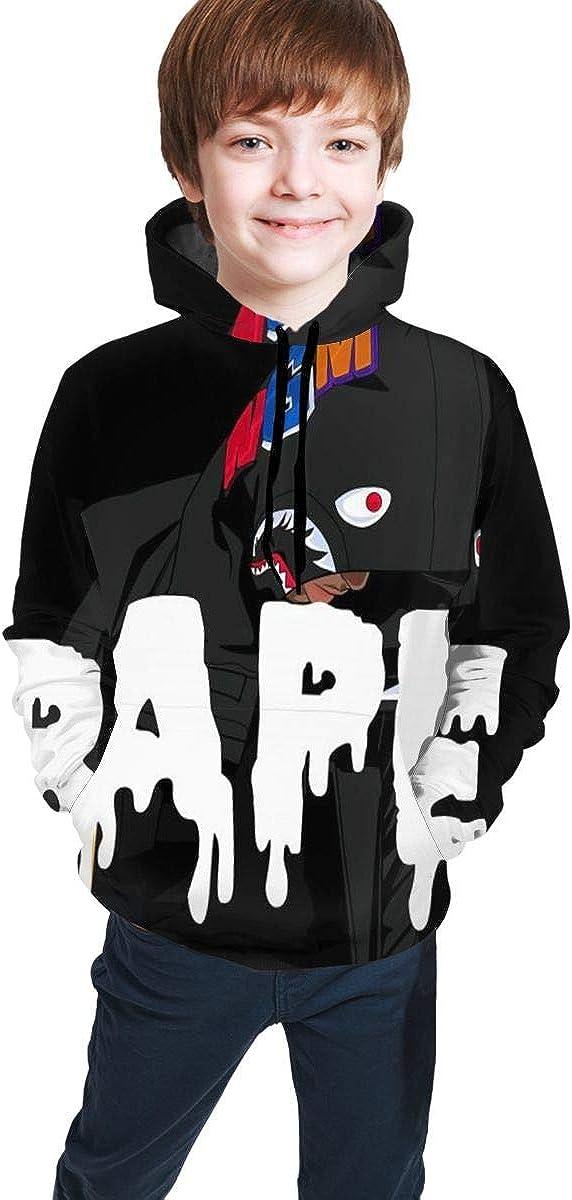 LinsSone Bape Blood Shark Hoodie Kids Hoodies 3D Print Unisex Pullover Sweatshirts for Boys Girls Long Sleeve Tops