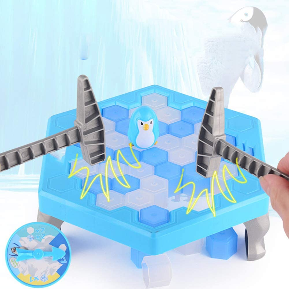 Thin 25.5*25.5*6cm Penguin Trap Breaking Ice Table Game Baby Toddler Stacking Nesting Sorting Cups Blocks Toy Activity Fun Time