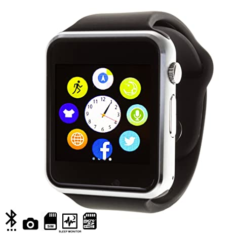 DAM - G08 Smartwatch Black. Cámara integrada. Acepta SIM y micro sd de hasta 32gb. reproductor de ...