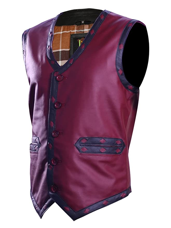 Amazon.com: The Jacket Makers Warriors - Chaleco de piel con ...