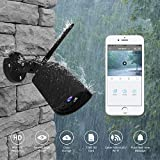 LAYGUDRAS Clever dog authorized 960P Outdoor Security IP wifi camera Warterproof Dustproof wireless wifi camera Support Cloud SD card 128G with Night Vision,Alert message for IOS Android (Black)