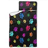 CLQQP Toddler Nap Mat Colorful Dog Paw Print