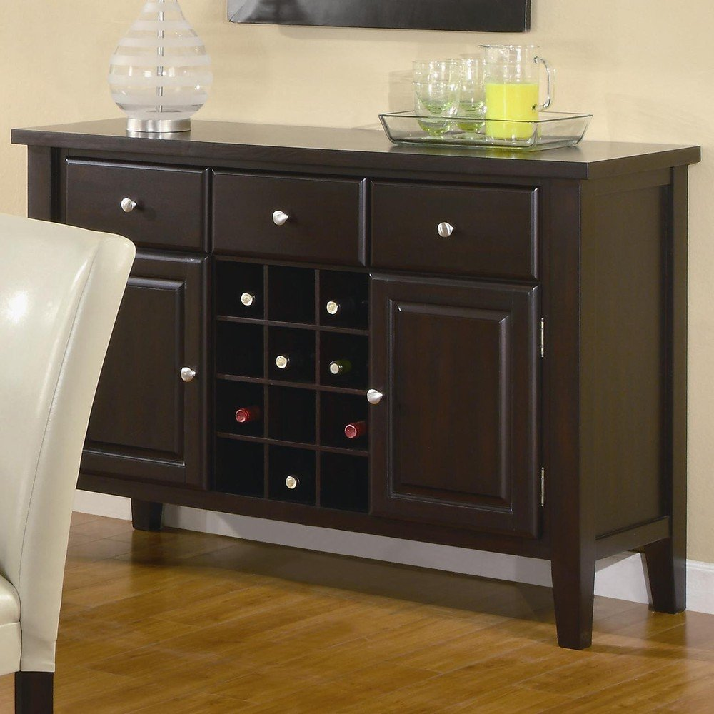 Elegant Amazon.com   Coaster Carter Buffet Style Server In Dark Brown Wood Finish    Buffets U0026 Sideboards