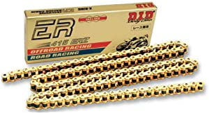 D.I.D 415 ERZ Series Racing Chain - 120 Links , Chain Length: 120, Chain Type: 415, Chain Application: All, Color: Gold 415ERZ-120