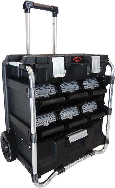 Dirty Pro Tools - Caja de herramientas con ruedas, varios cajones: Amazon.es: Bricolaje y herramientas