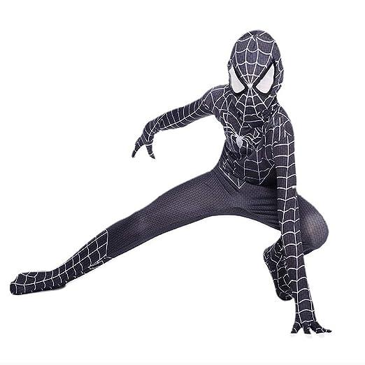 CTAO Traje Negro De Spiderman Ropa Cosplay Medias Traje De ...