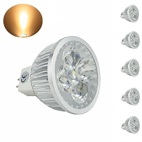 bonlux 5pack led mr16 led light bulbs bipin gu53 spot