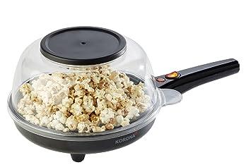 Korona 41050 Máquina para Hacer Crepes, Palomitas o Huevos fritos, 800 W, Negra: Amazon.es: Hogar