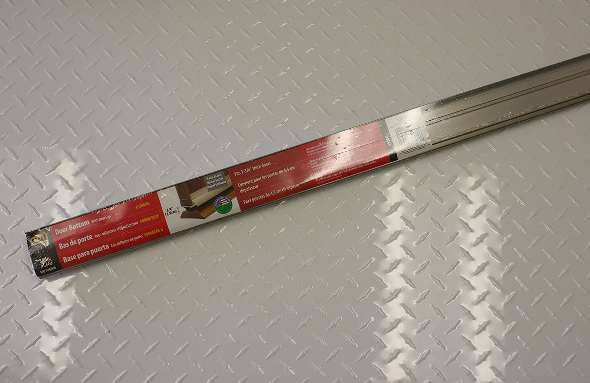 Vinyl M-D Building Products 49000 M-D U-Shape Door Bottom quot 36 in L X 1-3//4 in W Satin Nickel