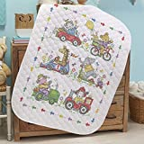 Baby by Herrschners Pre-Quilted On The Move Baby Quilt Stamped Cross-Stitch Kit