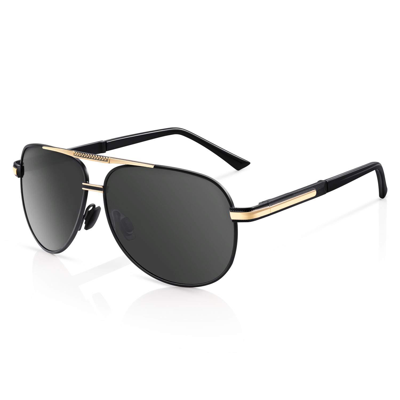 21&Z Men Premium Classic Aviator Polarized Sunglasses 100% UV Protection Sun Glasses Shades by 21&Z