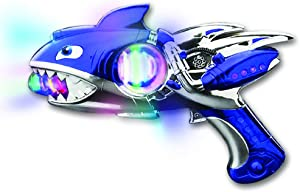 """ArtCreativity Light Up Super Spinning Shark Blaster, Spinning LED and Cool Sound Effects, 10.75"""" Light Up Toy Gun for Kids, Batteries Included, Great Gift Idea for Boys & Girls"""