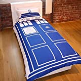 Doctor Who Tardis Single/US Twin Duvet and Pillowcase Set
