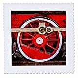 3dRose Alexis Photography - Transport Railroad - Driving wheel of a ancient steam locomotive. Stylized photo - 25x25 inch quilt square (qs_270629_10)