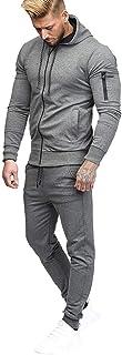 Styledresser Pullover Uomo Collo Alto,Uomo Autunno Patchwork Cerniera Felpa Top Imposta Gli Sport Completo da Uomo Trasuit 30.09
