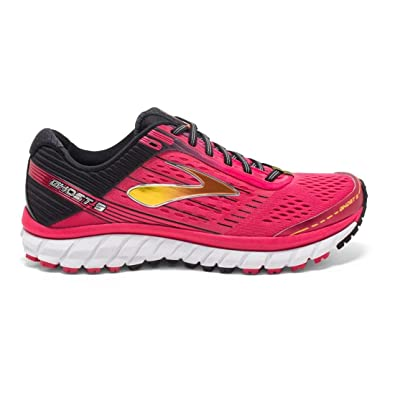 b90f6fb95fa Brooks Women s Ghost 9 Azalea Black Cyber Yellow Running Shoes - 12 B(M) US   Amazon.in  Shoes   Handbags