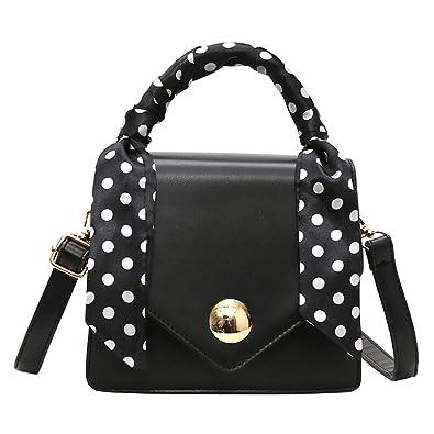 033a0b672e87b Bfmyxgs Stylische Tasche für Frauen Mädchen Portable Small Square Bag Schal  Retro-wilde breiten Schulterriemen