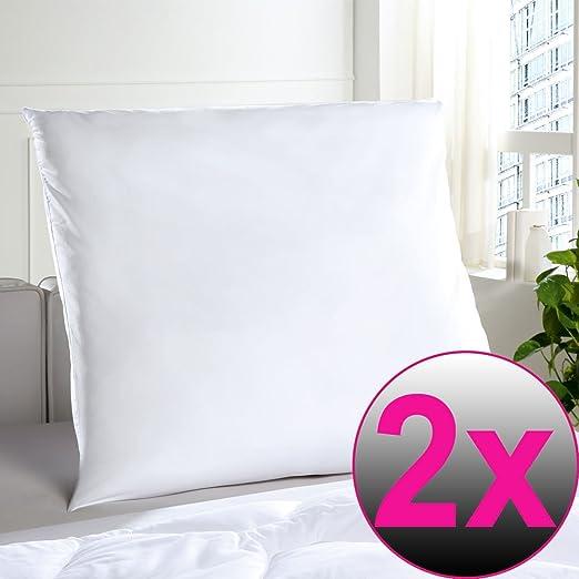 Set de 2 almohadas de microfibra 80x80 cm - Cojín para ...