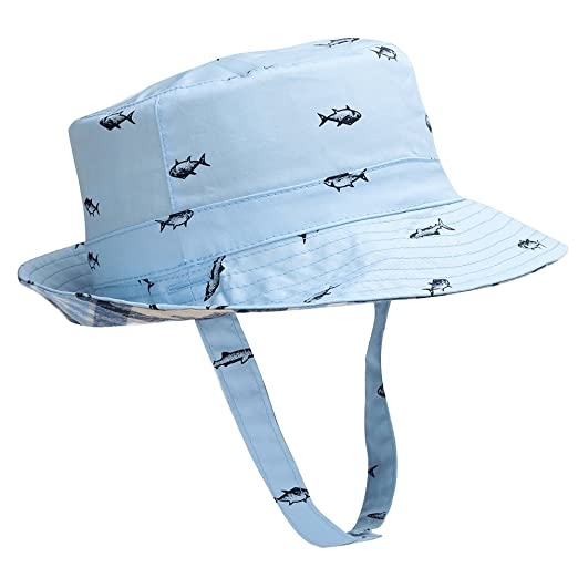 de3cd3dc93a Hisharry Baby Toddler Kids Boy Girl Bucket Reversible Sun Protection Animal  Hat 18.8 quot (48cm