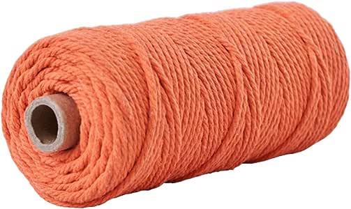 Artibetter - Cuerda de algodón natural de macramé, rollo