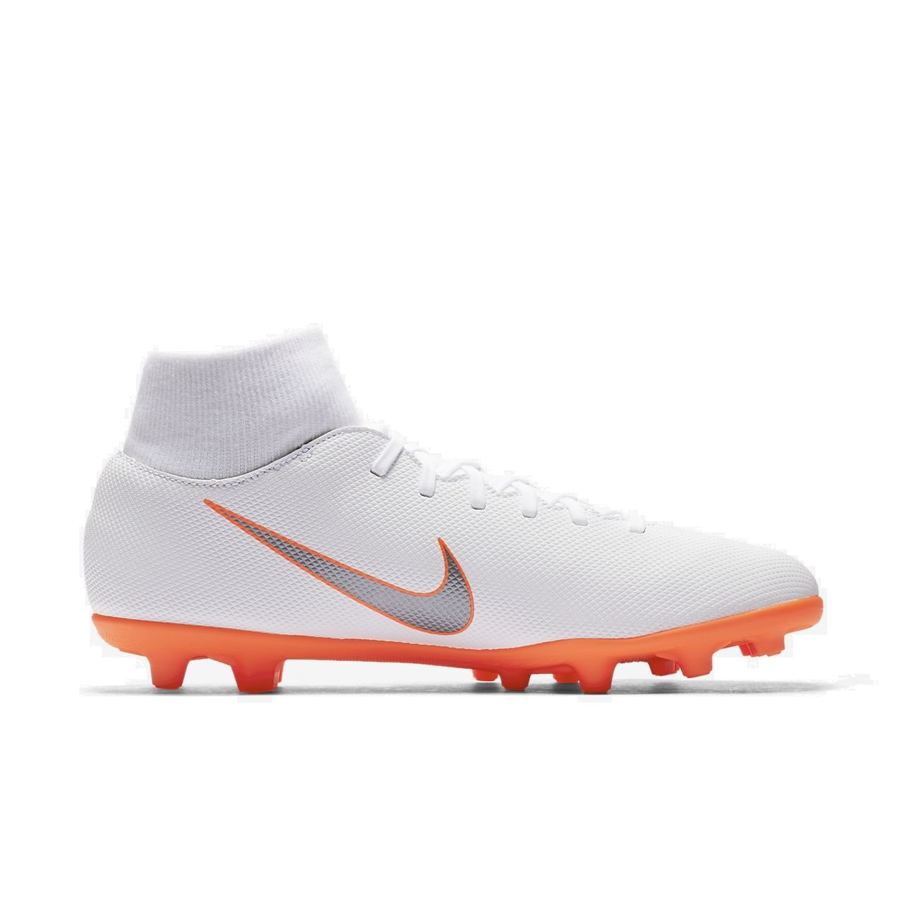 Amazon.com | NIKE Mercurial Superfly 6 Club MG (White/Total Orange) (Mens 10.5/Womens 12) | Soccer