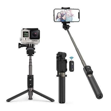 Bluetooth Selfie Stick Stativ TaoTronics Selfie Stange mit Fernbedienung für Gopro Action Kamera iPhone X/ 8/ 7/ 7 plus/ 6s/