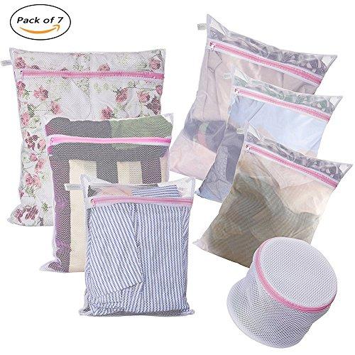 Laundry Bags - Set of 7 - Mesh Washing Drying B...
