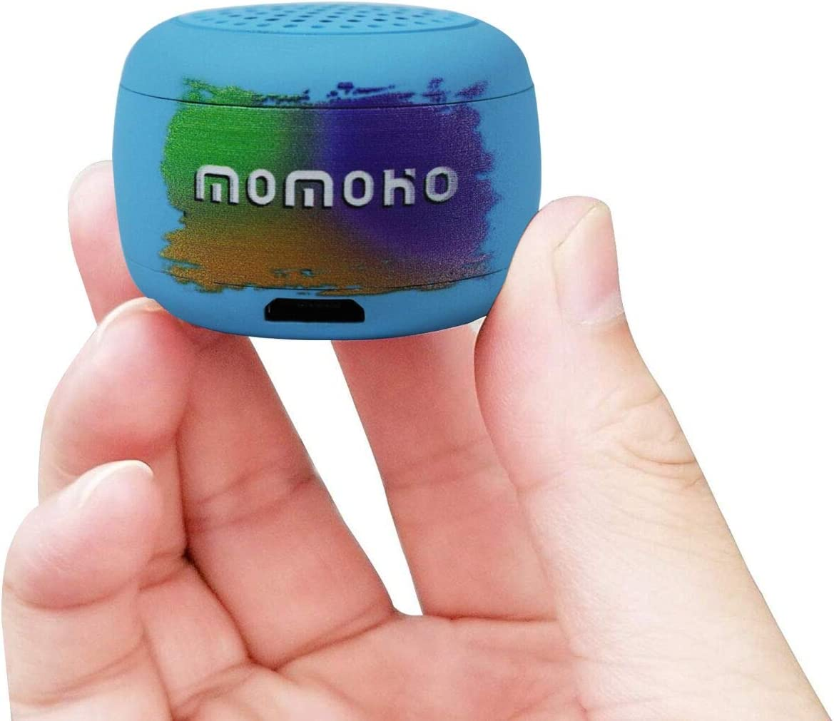 Momoho Small Bluetooth Speaker - Mini Size but Great Sound Quality,Photo Selfie Button & Answer Phone Calls,BTS0011 (Blue)