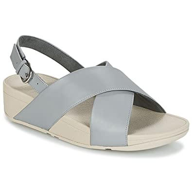 7b87c31ec739 Fitflop Women Lulu Cross Back-Strap Leather Sandals  Amazon.co.uk  Shoes    Bags