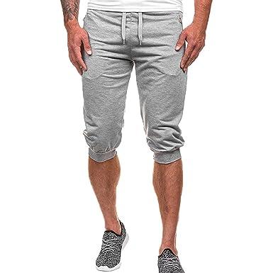 VPASS Pantalones Hombre, Verano Chándal de Hombres Color sólido ...