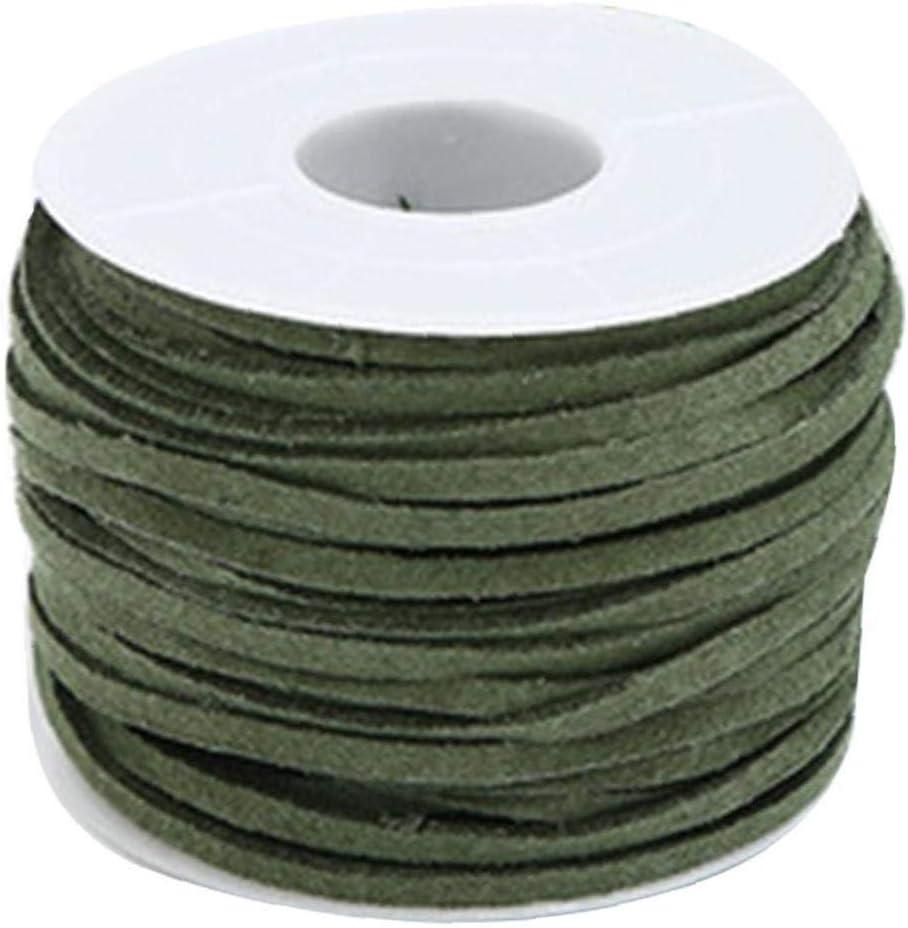 Aisoway Gamuza sintética cordón de Cuero cordón de DIY Accesorios de Vestir Tema de la Cuerda Zapatos joyería Que Encuentra el Verde