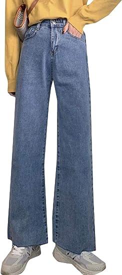BeiBang(バイバン)ジーンズ レディース ワイドパンツ デニム ゆったり デニムパンツ オシャレ ロング丈 ジーパン ストレート ファッション Gパン カジュアル シンプル ズボン