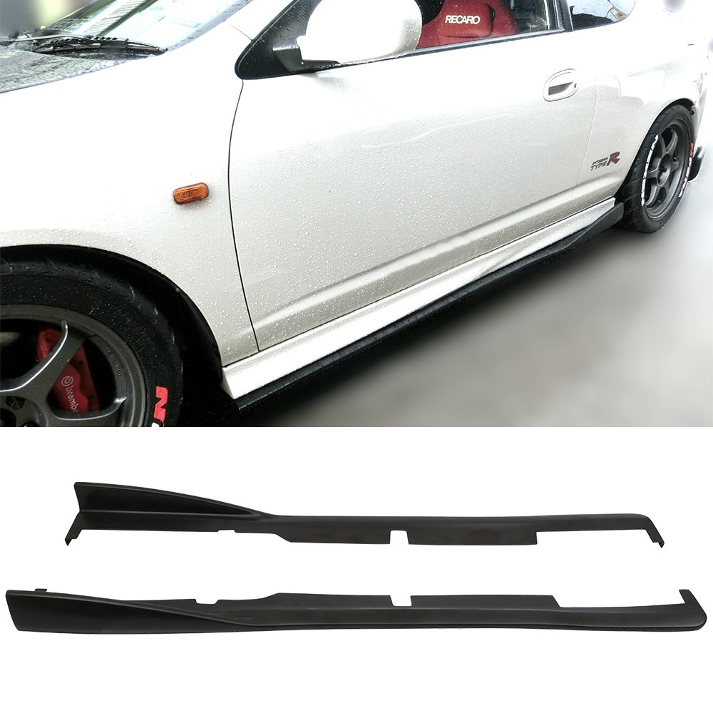 Side Skirts Fits 2002-2006 Acura RSX DC5 | CS Style Black PU Sideskirt Rocker Moulding Air Dam Chin Diffuser Bumper Lip Splitter by IKON MOTORSPORTS| 2003 2004 2005