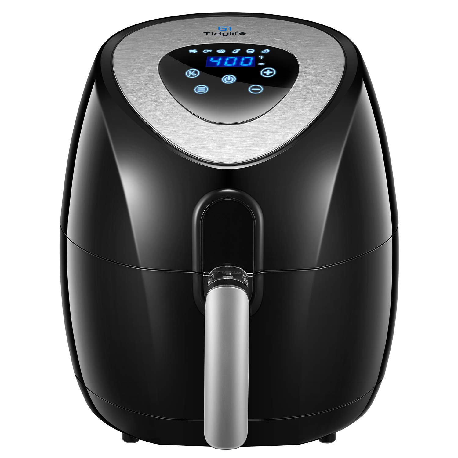 Air Fryer, Tidylife 4.5QT Digital Hot Air Fryer Oven, Oilless Fast Cook, LED Touchscreen with Cooking Presets, Nonstick Basket Easy to Disassemble and Clean, with 50 Recipes,1500W