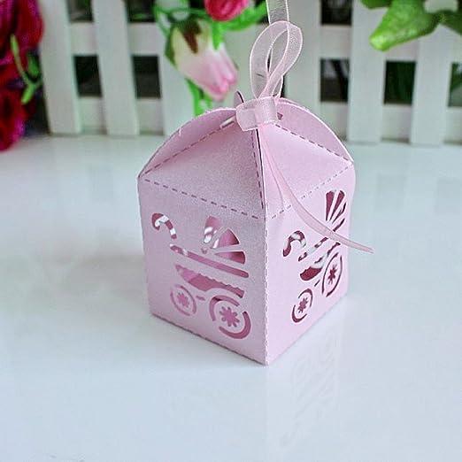12 opinioni per JZK® 48 x Carrozzina rosa scatoline scatole portaconfetti porta bomboniere