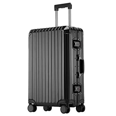 Sindermore Aluminum-magnesium alloy hard shell luggage suitcase