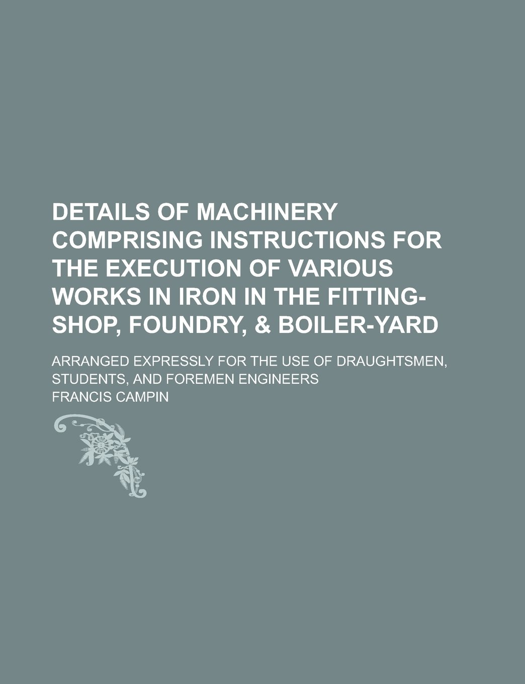 Details of machinery comprising instructions for the execution of ...