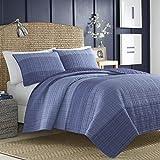 Nautica Riverview Cotton Pieced Quilt, Twin - Blue, 217416