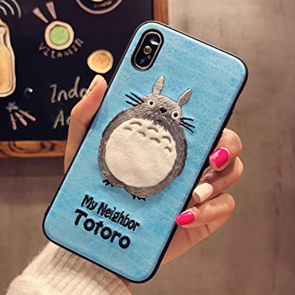 on sale f8e7c 013ff BONTOUJOUR iPhone 7/iPhone 8 Case, Lovely Embroidery My Neighbor Totoro  Pattern TPU Case 360 Degree Full Body Strong Protection Girls Case for  iPhone ...