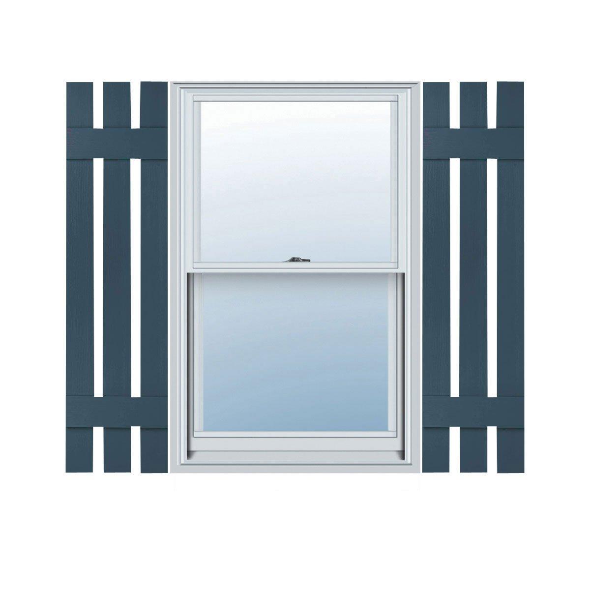12''W x 47''H Builders Edge  Shutters (Per Pair), 036 - Classic Blue by Builders Edge