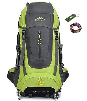 onyorhan Viaje Mochila Trekking Senderismo Excursionismo Alpinismo Escalada Camping para Hombre Mujer 70 L (verde): Amazon.es: Deportes y aire libre