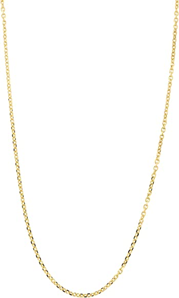 Sonia Jewels White and Yellow Over Brass 0.85mm 2 Color Plated Unique Chain Necklace