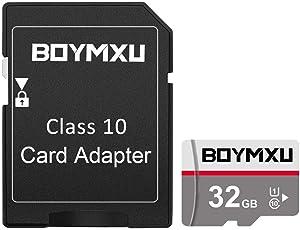 TF Memory Card 32GB,BOYMXU TF Card with Adapter,High Speed Memory Card Class 10 TF Card Memory Card for Phone Camera Computer-Update