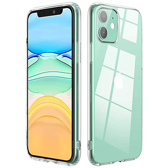 Amazon.com: Carcasa transparente compatible con iPhone 11 ...