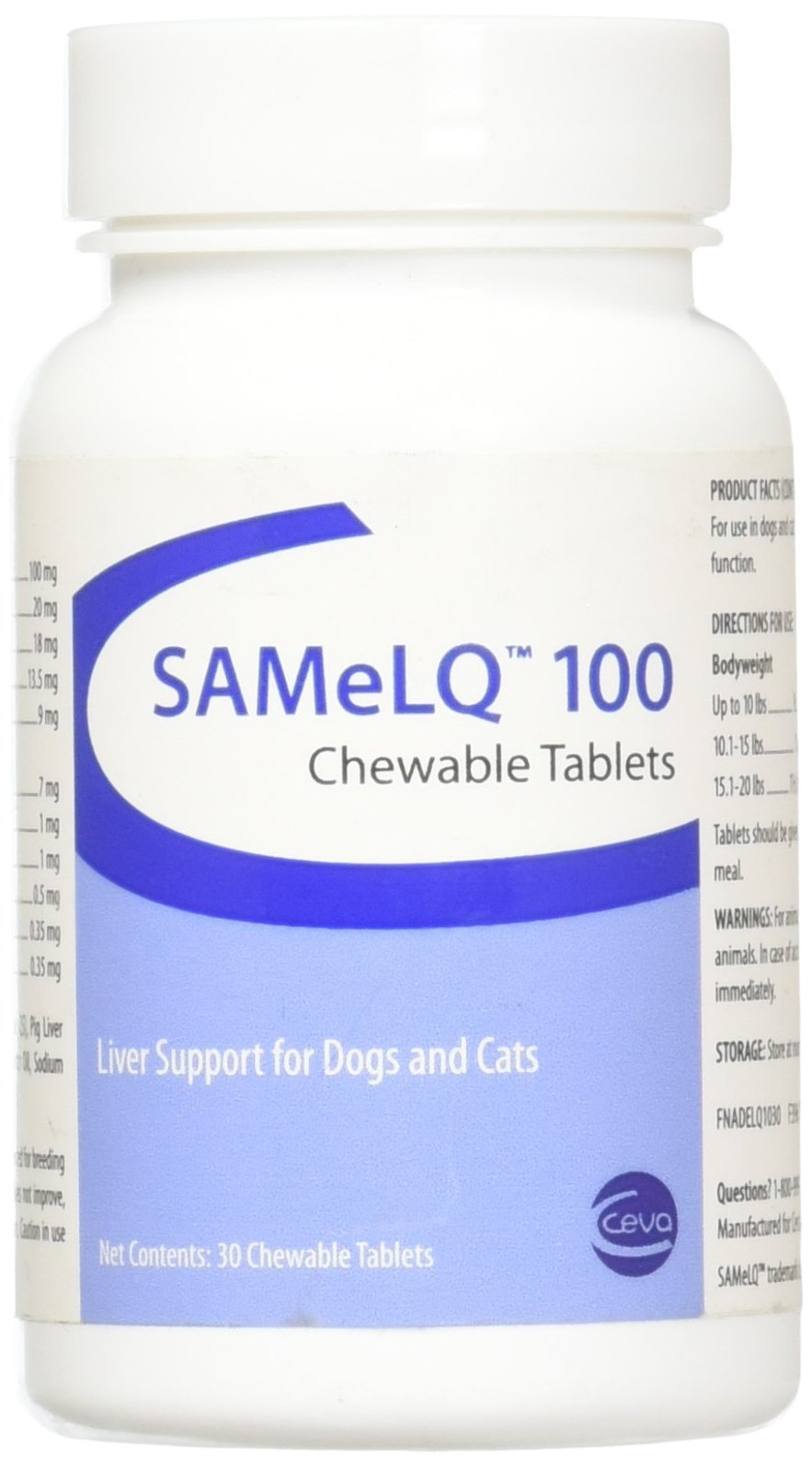 Vitality SAMeLQ 100 Chewable Tablets 30 ct by Vitality