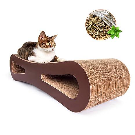 Enjoyfeel - Rascador para Gatos, Gatos y Gatos, cartón Ondulado para Gatos/Gatos