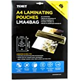 Texet A4 Size Waterproof Glossy Finish Laminating Pouches | Pack Of 25 | 150 Micron (2 * 75 Micron)