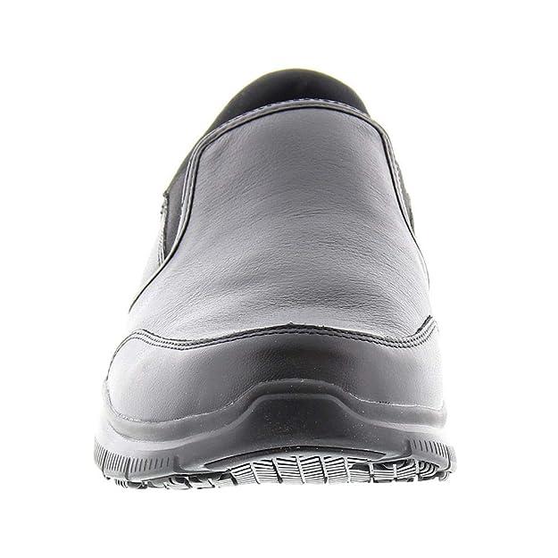 Skechers - Bronwood - Mocassini da Lavoro in Pelle Suola Anti-Scivolo -  Uomo  Amazon.it  Scarpe e borse ac7409d5417