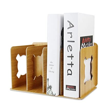DayCount Desktop Organizer Office Storage Rack Adjustable Wood Display  Shelf   Creative Wooden DIY Desktop Book